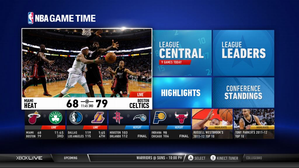 NBA Game Time Main UI